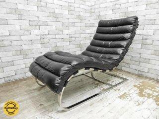 ハロ HALO ビルバオ デイベッド BILBAO DAYBED シェーズロング OLD SADDLE BLACK ビンテージ加工 ブラック 定価約216,000円 ●