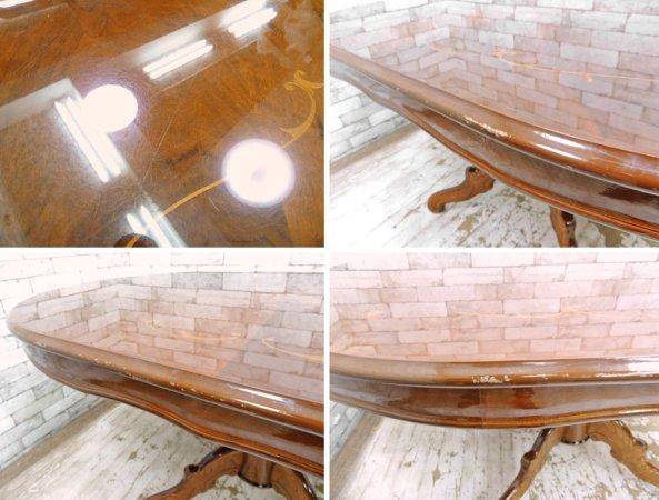 ヨーロピアンクラシカル ダイニングテーブル イタリア アンティークスタイル ●
