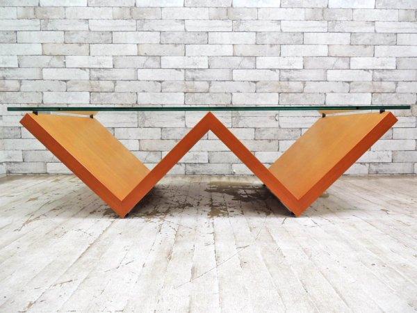 アルフレックス arflex モンターニャ MONTAGNA センターテーブル W120cm 川崎文男 クリアガラス ●