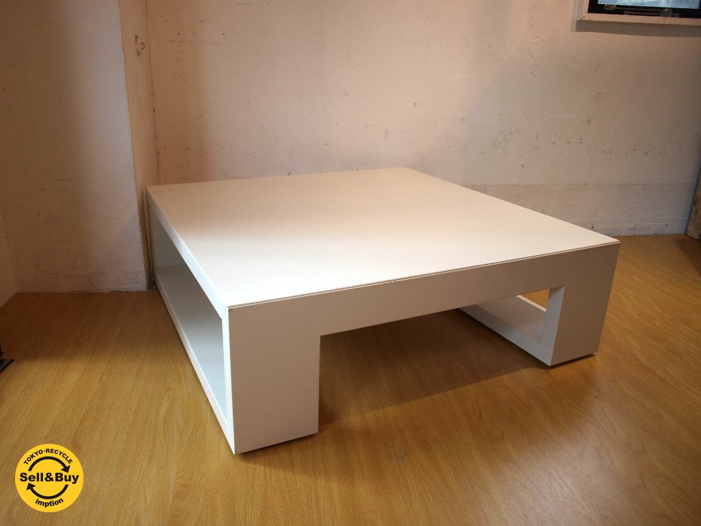 モダンデザイン Modern Design リビング テーブル Living Table センターテーブル ホワイト スクエア ★