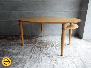 カンディハウス CONDE HOUSE ラ・ヴィー La Vie エッグテーブル  ダイニングテーブル ナチュラル ♪