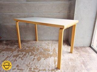 アルテック Artek 80A ダイニングテーブル デスク ホワイト メラミントップ 幅120cm  アルヴァ・アアルト デザイン ♪