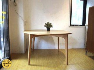 マルニ60+ MARUNI60 Plus オーク材 ラウンドテーブル W 120cm ラウンドダイニングテーブル ロングライフデザイン ★