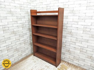 ジャパンビンテージ Japan Vintage 木味 ブックシェルフ 本棚 シンプルデザイン ●