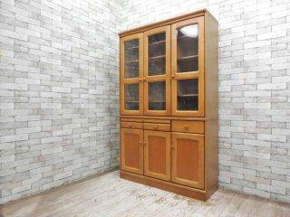 カリモク karimoku 食器棚 カップボード 天然木 ナチュラルスタイル H194cm ●