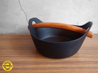 釜定 南部鉄器 洋鍋 鉄鍋 伝統工芸 ケヤキ♪