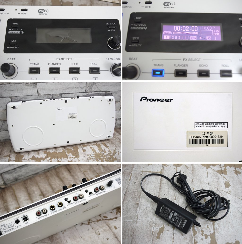 パイオニア Pioneer ワイヤレスDJシステム XDJ-AERO ターンテーブル Wi-Fi対応 ●