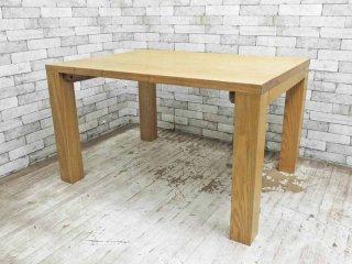 タモ無垢材 ダイニングテーブル ナチュラルスタイル クラフト系 シンプル アッシュ W120 B ●