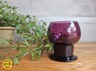 ヌータルヤルヴィ Nuutajarvi ヴィンテージ ワイングラス Wineglass 1111 カイ・フランク Kaj Franck 1953-57年 パープル ♪