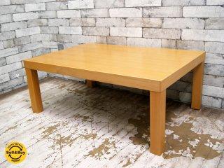 無印良品 MUJI 木製ローテーブル ブナ材 W90cm ナチュラル シンプルデザイン 廃盤品 ●
