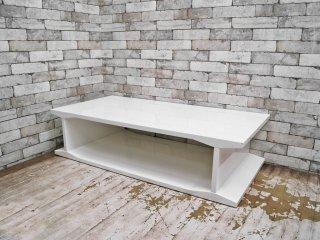 CB2 センターテーブル コーヒーテーブル ホワイト モダンデザイン アメリカ ●