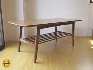 カリモク60 karimoku60 リビングテーブル Lサイズ ウォールナットカラー デコラトップ 幅 119cm ミッドセンチュリーデザイン ★