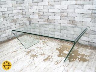 モーダエンカーサ moda en casa トラペズ trapez ガラス コーヒーテーブル センターテーブル モダンデザイン ●