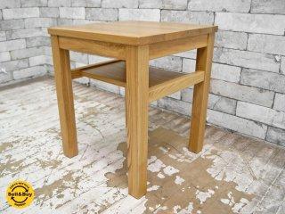 無印良品 MUJI タモ無垢材 サイドテーブル ナイトテーブル 廃盤アイテム ●