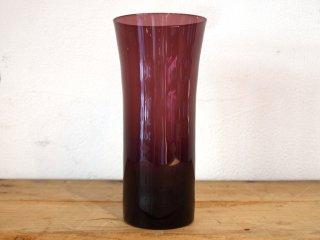 ヌータヤルヴィ Nuutajarvi #1725 タンブラー tumbler ガラス パープル カイ・フランク Kaj Franck D ★