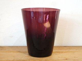 ヌータヤルヴィ Nuutajarvi #3400 ベース vase フラワーベース 花瓶 ガラス パープル カイ・フランク Kaj Franck ★