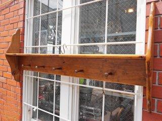 UK ビンテージ ハンガーラック パイン材 壁掛け ラック ■