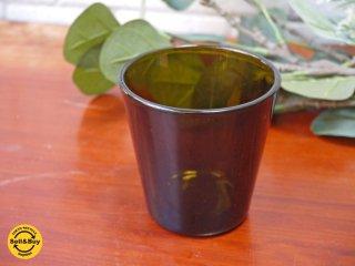 ヌータヤルヴィ Nuutajarvi カイ・フランク Kaj Franck #5027 アンバー タンブラー グラス ビンテージ ■