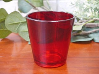 ヌータヤルヴィ Nuutajarvi カイ・フランク Kaj Franck #5027 レッド タンブラー グラス ビンテージ ■