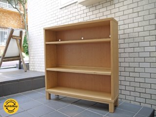 無印良品 MUJI 組み合わせて使える木製収納 オーク材 シェルフ 本棚 薄型ラック 奥行21cm ■