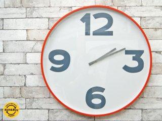 シービーツー CB2 ウォールクロック 12-3-6-9 Clock 掛時計 オレンジ ●