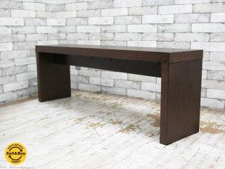 モーダエンカーサ moda en casa カフェベンチ cafe bench オーク材 ライトウェンジ W130cm 展示美品 ●