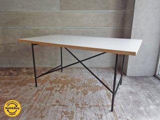 リチャード  ランパート RICHARD LAMPERT アイアーマン テーブル Eiermann Table デスク スチール ブラック 高さ調整機能付き メトロクス取り扱い ♪