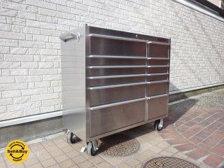 ダルトン DULTON ヘヴィデューティキャビネットキャスター Heavy duty cabinet with castor ステンレス ワゴン 定価170,640円 ●