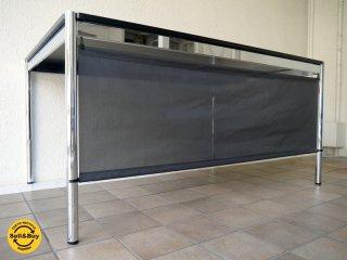 USMモジュラーファニチャー USMハラー テーブル USM Haller ブラックオーク天板 + 別売 着脱可能パネル付き 総額20万〜 状態良好 ダイニングテーブル オフィス デスク MoMA ◇