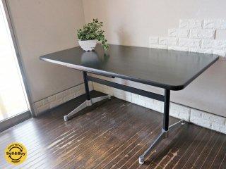ハーマンミラー HermanMiller コントラクトテーブル ダイニングテーブル デスク レクタングル ブラック w150cm C&R イームズ ミッドセンチュリー 引き出し付 希少◎