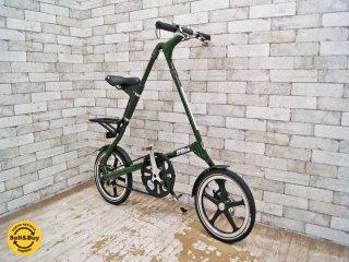 ストライダ STRIDA LT 折りたたみ自転車 16インチ イングリッシュグリーン ディスクブレーキ イギリス ミニベロ 美品 ●