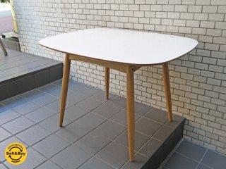 カリモク60+ karimoku Dテーブル メラミン天板 希少 オーク材フレーム リビング ダイニングテーブル ミッドセンチュリー ■
