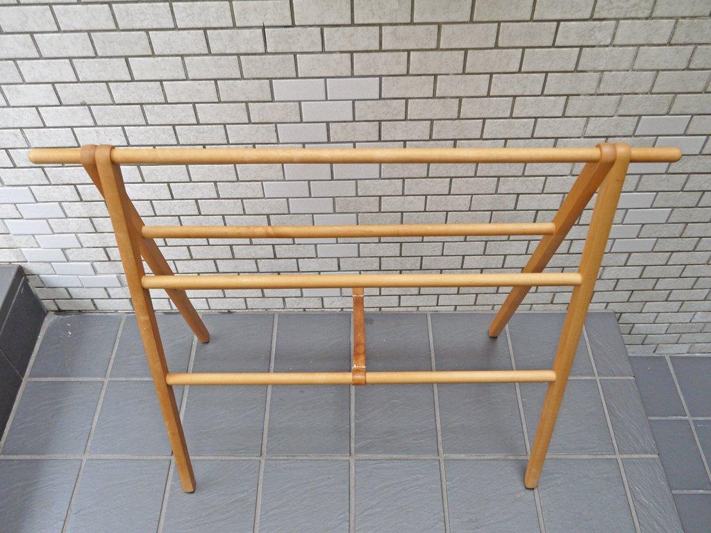コサイン cosine ドレスラック 廃番サイズ メープル材 木製 タオルハンガー ランドリーラック 旭川家具 ■