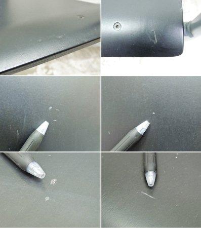 無印良品 MUJI スチールパイプ アームチェア ダークグレー トーネット THONET コラボモデル ●