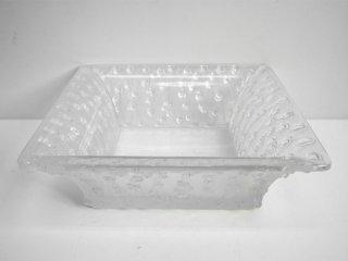 ラリック LALIQUE COUPE ROSES スクエア ボウル square bowl 箱付 参考価格約14万円 ●