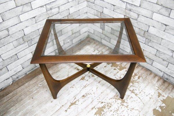 レーン LANE センターテーブル コーヒーテーブル ガラストップ USビンテージ ミッドセンチュリー ★