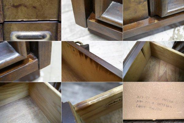 バセットファニチャー Bassett Furniture サイドボード ローボード USビンテージ 抽斗4杯 ●