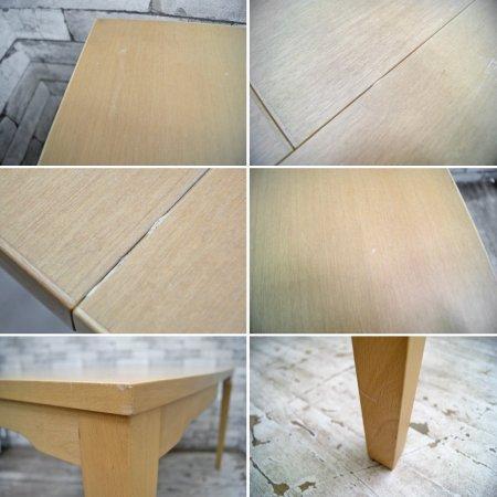 カリモク Karimoku 伸長式 ダイニングテーブル ブナ材 シンプルモダン ●
