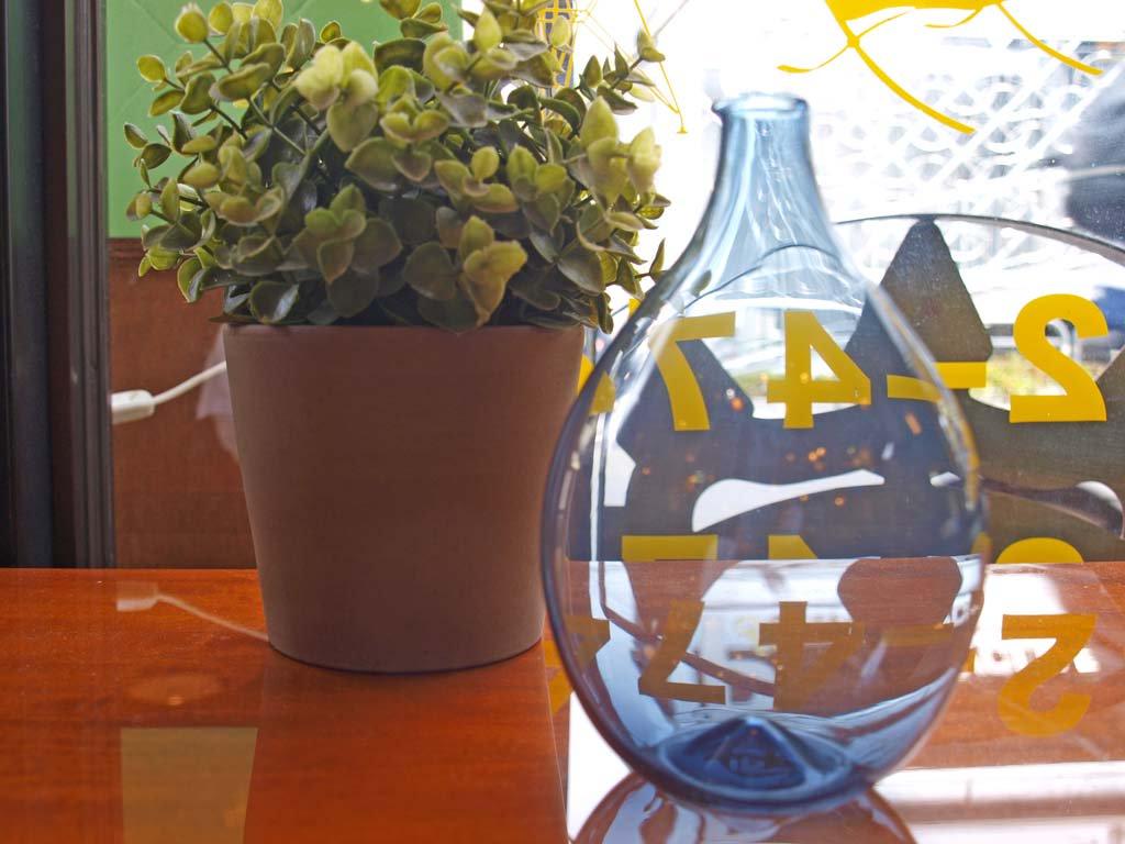 イッタラ iittala i-401 ティモ・サルパネヴァ Timo Sarpaneva バードボトル ブルーグレー 2002 ヘルシンキ サルパネバ展 ★