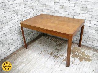 ジャパンビンテージ チーク材 ダイニングテーブル 北欧スタイル レトロデザイン ●
