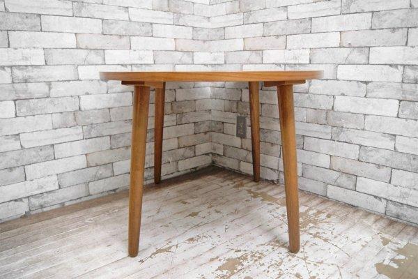 ウニコ unico アルベロ ALBERO オーバル カフェテーブル ローテーブル チーク材 レトロデザイン カフェスタイル 替え脚付 ●