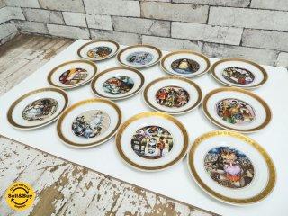 ロイヤルコペンハーゲン Royal Copenhagen アンデルセン童話 プレート12枚組 100周年限定品 デンマーク●