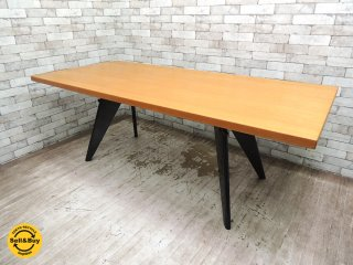 ヴィトラ vitra EMテーブル EM Table wood ダイニングテーブル オーク材 ジャン・プルーヴェ Jean Prouve W200cm ●