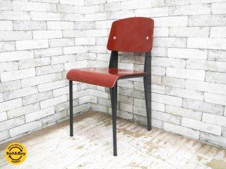 ヴィトラ Vitra スタンダードチェア standard chair ジャン・プルーヴェ Jean Prouve ダークレッド ●