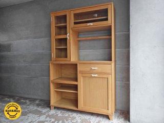 モモナチュラル ランド キッチンボード カップボード 食器棚 ♪
