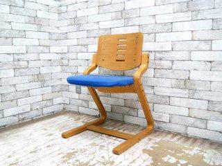 フォルミオ FORMIO 学習椅子 デスクチェア KF-02 シートクッション付 ブルー 阿久津雄一 デンマーク ●