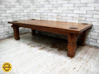 アジアン家具 Asian Furniture チーク無垢材 ローテーブル センターテーブル ●
