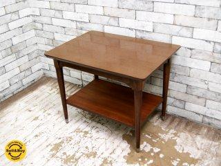 B.P. John Furniture USビンテージ ローテーブル サイドテーブル ミッドセンチュリー 米軍家具 ●