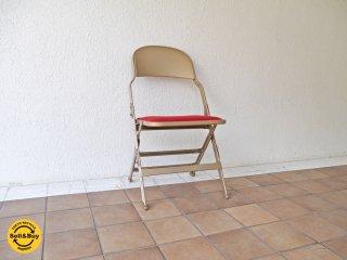 クラリン CLARIN フォールディングチェア 折り畳みチェア Folding chair SANDLER レッド ファブリッククッション仕様 P.F.S.取扱 ◇