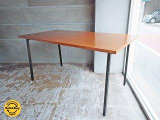インダストリアルスタイル チーク天板 × スチールレッグ ダイニングテーブル♪